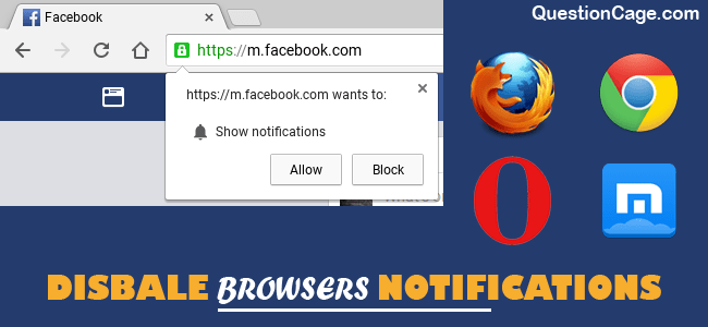 Disable Web Notification in browsers