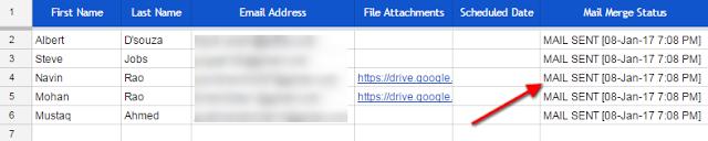 Mail merge gmail