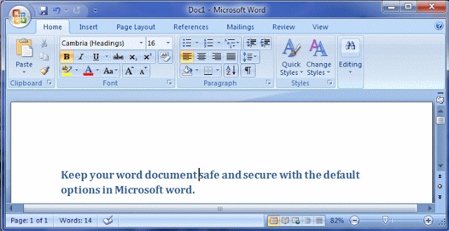 How to put a password on word document