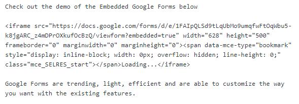 iframe code google form