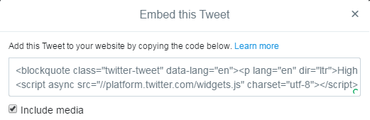 Embed a Tweet in WordPress Post