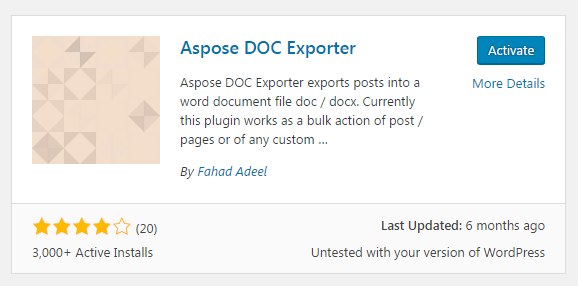 How to Export WordPress Post and pages as word Document