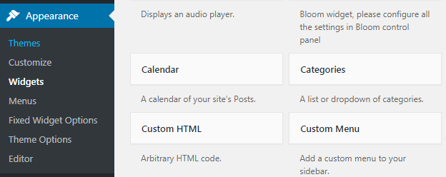 Create a floating widget in wordpress