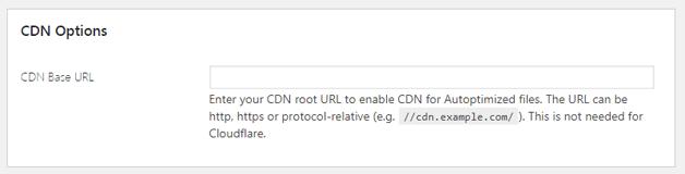 CDN Options Autoptimize
