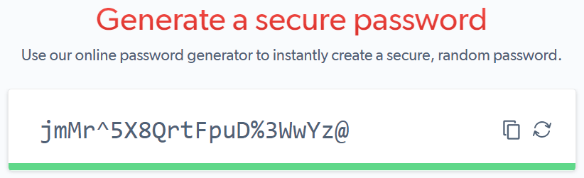 generate secure password