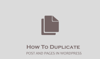 Duplicate post and pages in wordpress