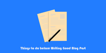 write blog post
