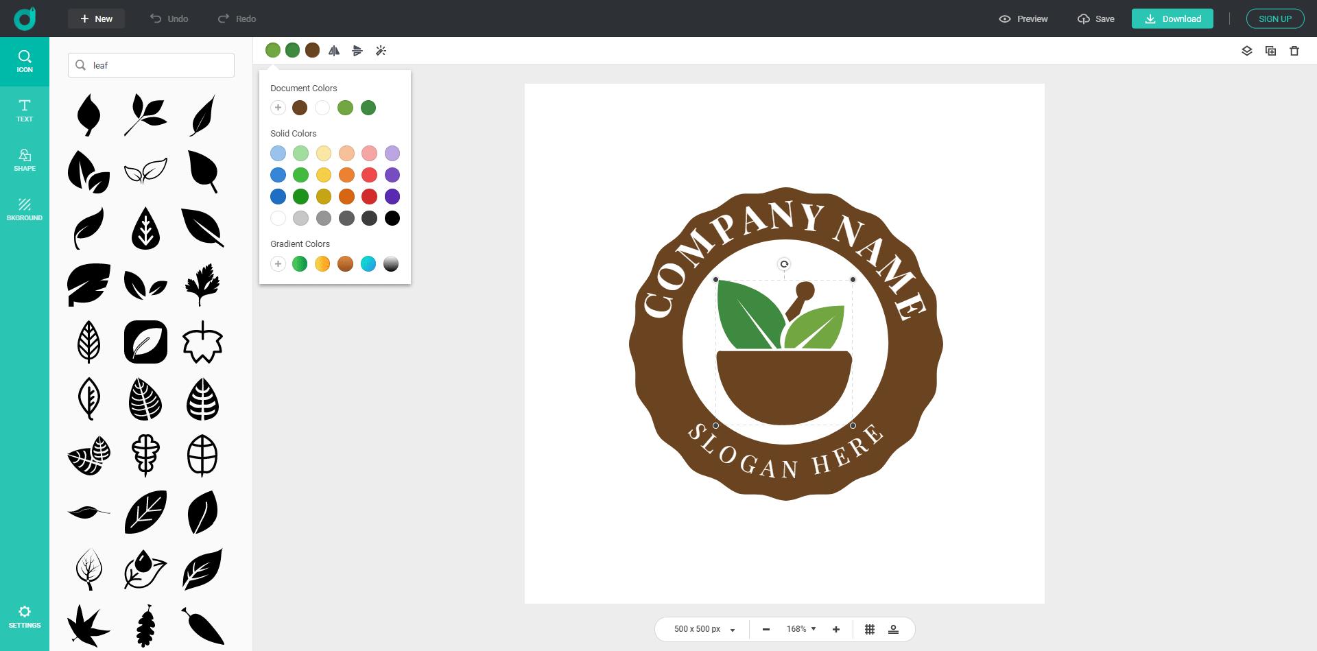Design Evo Logo Editing