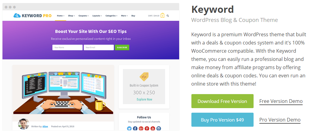 Keyword Pro WordPress Theme
