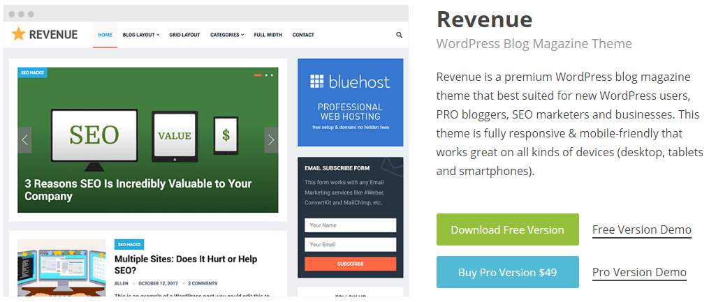 Revenue WorPress Theme