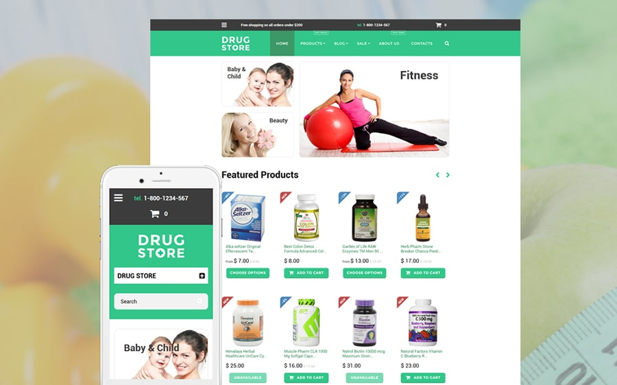 Drugstore Shopify Theme
