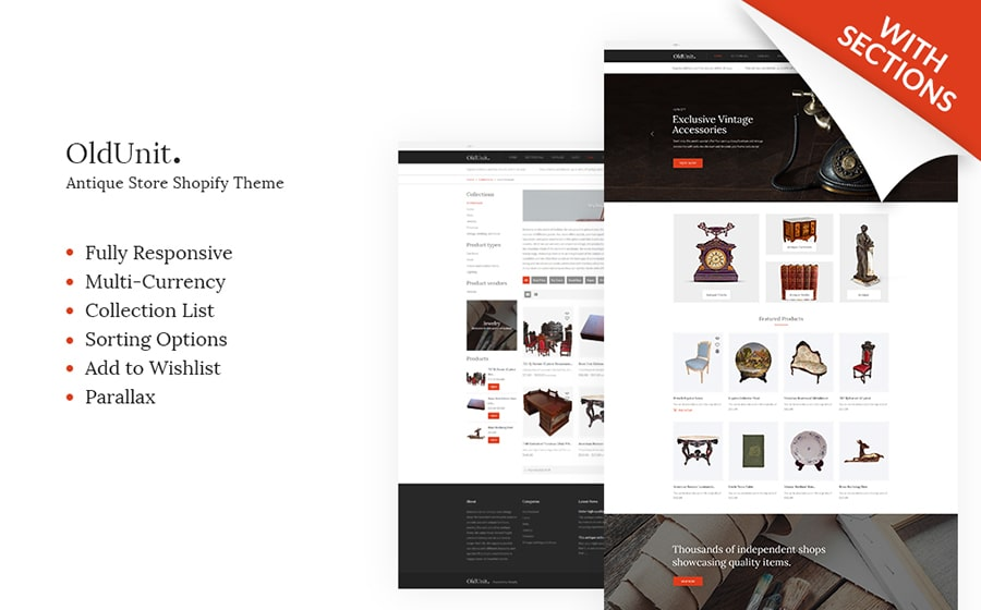 OldUnit - Antique Store Shopify Theme