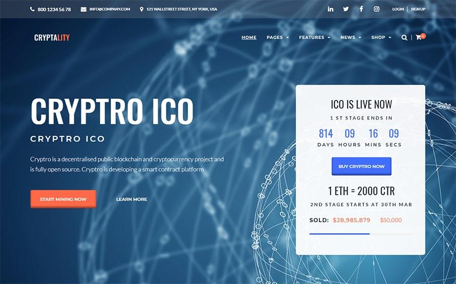 Cryptality - Cryptocurrency Elementor WordPress Theme
