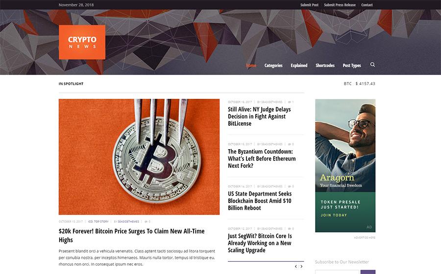 Crypto News WordPress Themes