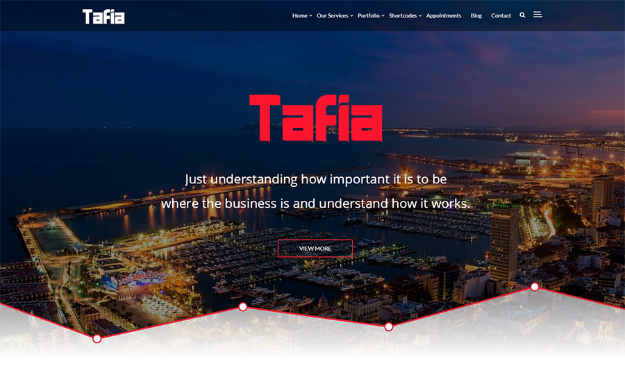 Tafia Business Theme WordPress Theme