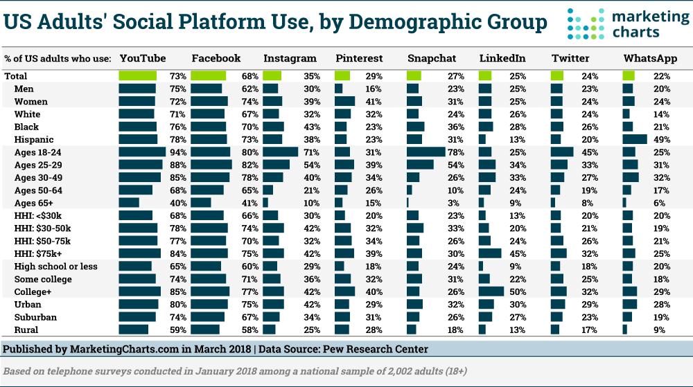 Social Platform Users Demographic