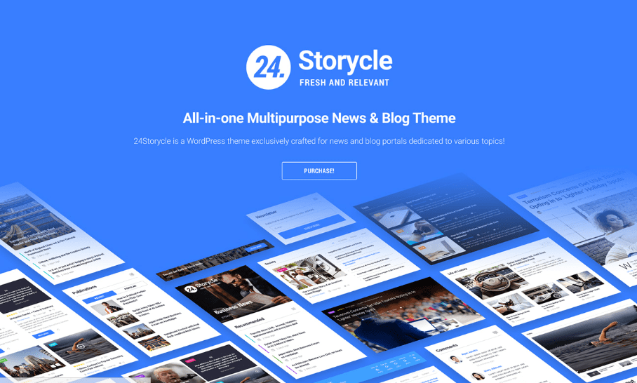 24 Storycle Multipurpose WordPress Theme