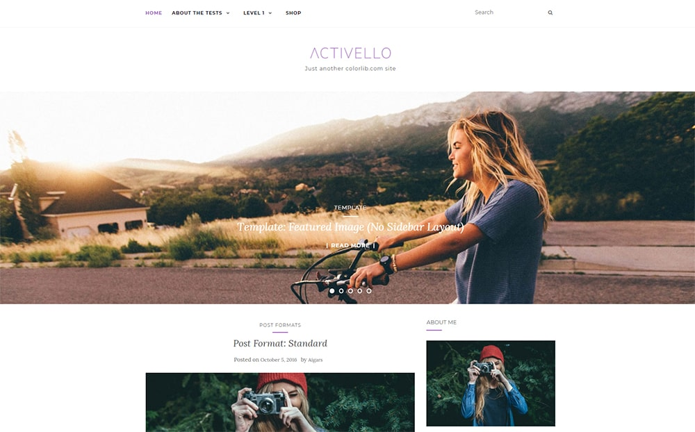 Activello Simple Multipurpose Blog Theme