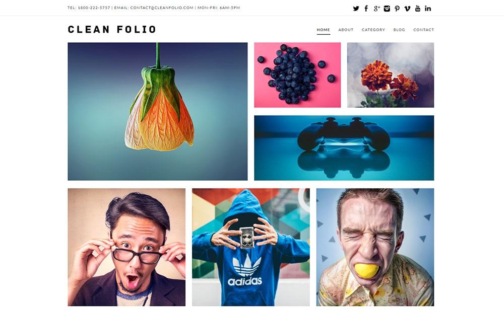 Clean Folio WordPress Theme