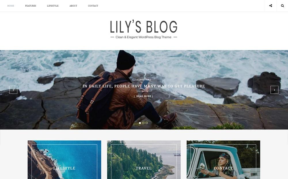 Lily Clean Elegant Blog WordPress Theme