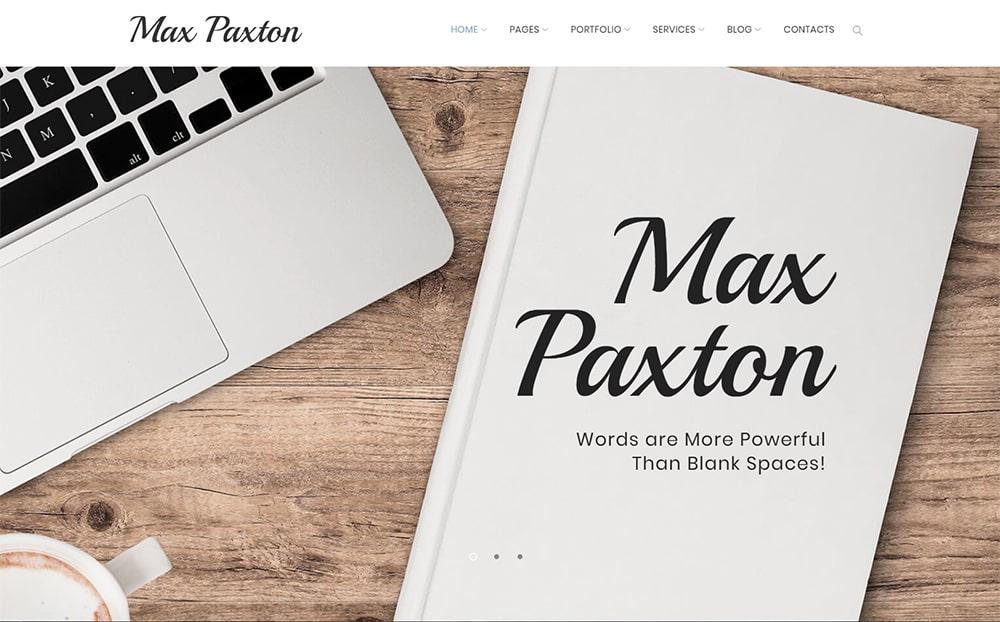 MaxPaxton Freelance Copywriter-and-Journalist WordPress Theme