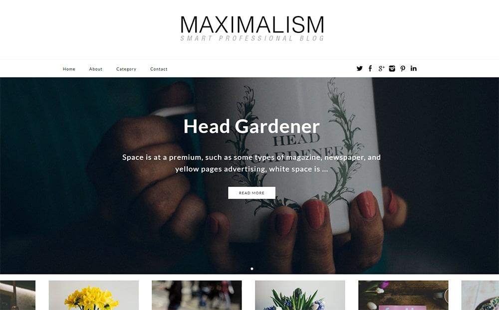 Maximalism WordPress Theme