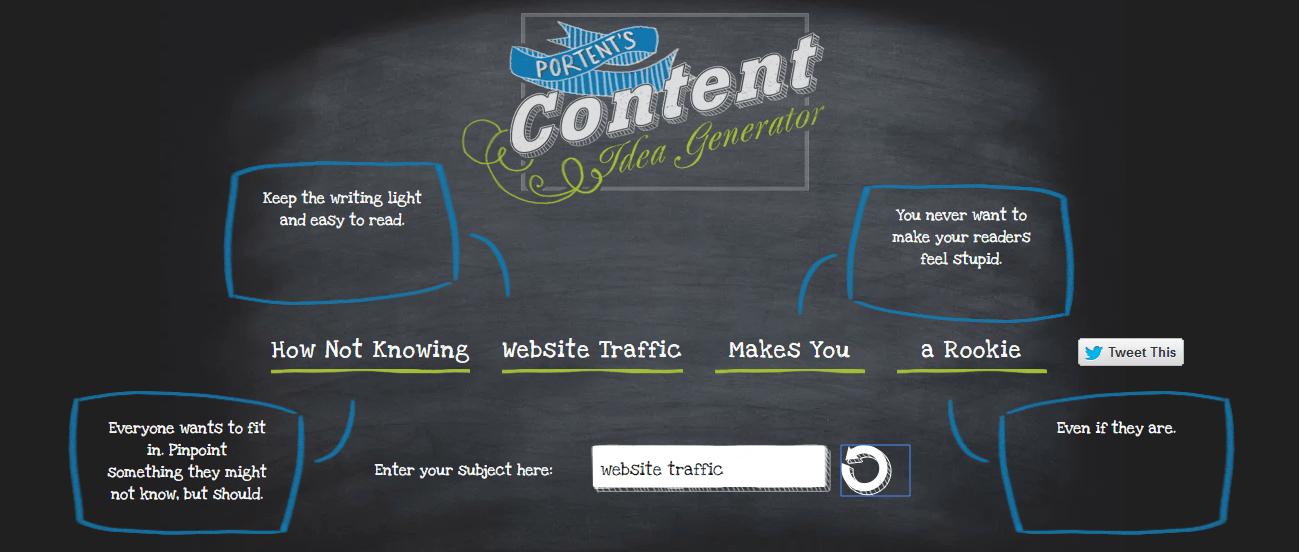 Portent Content Idea Generators
