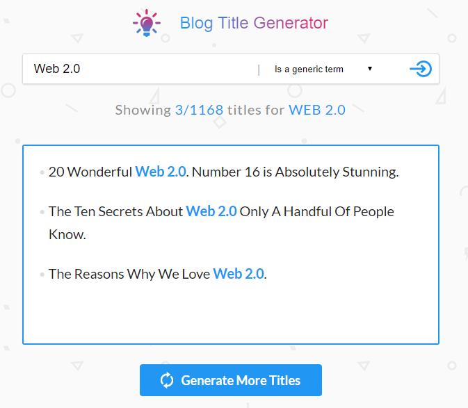 SeoPressor Blog Title Generator