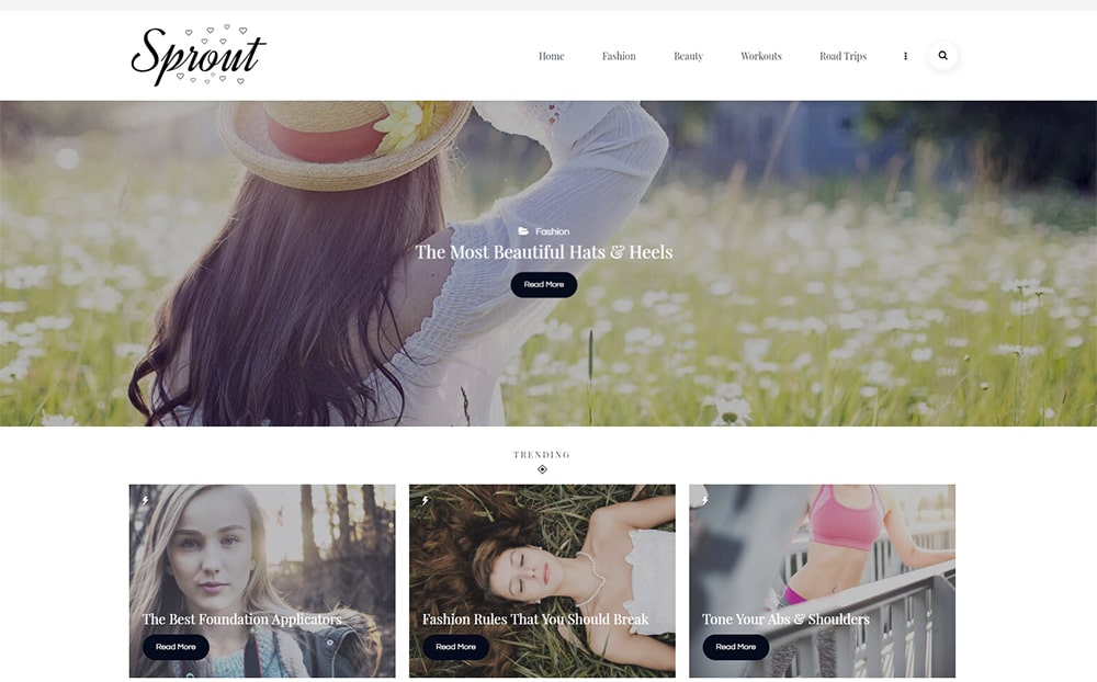 Sprout Personal Blog WordPress Theme