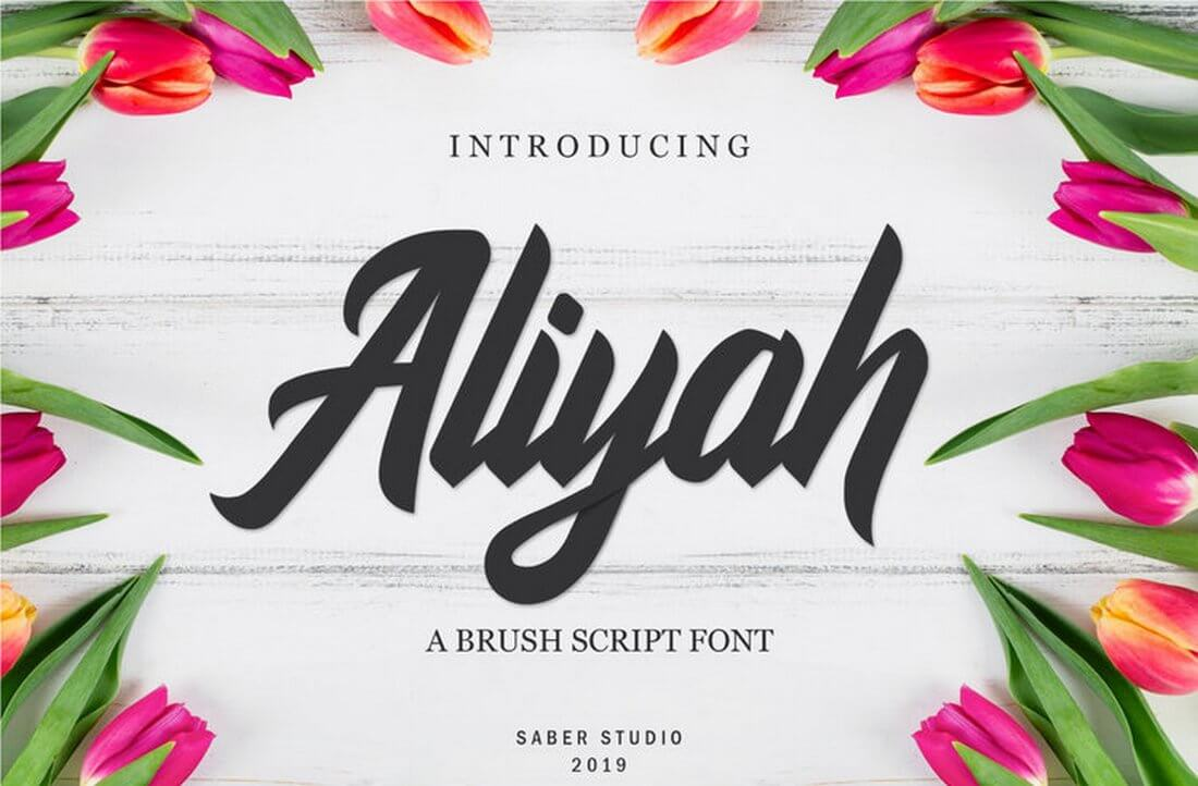 Aliyah Elegant Script Typeface