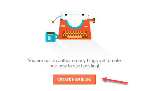 Create New Blog on Blogger