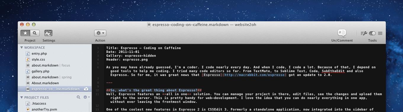 Espresso Text Editor