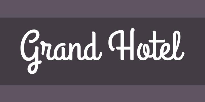 Grand Hotel Script Font