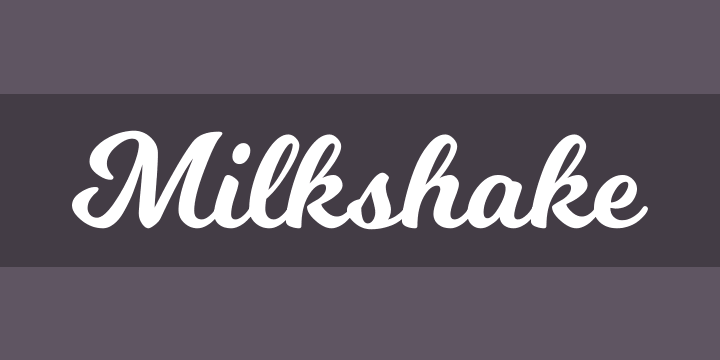 MilkShake Script Font