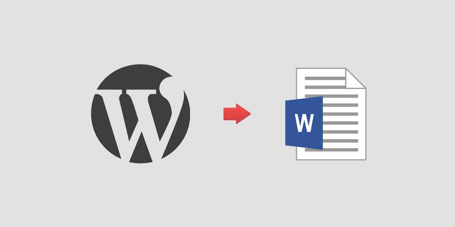 export wordpress posts to word
