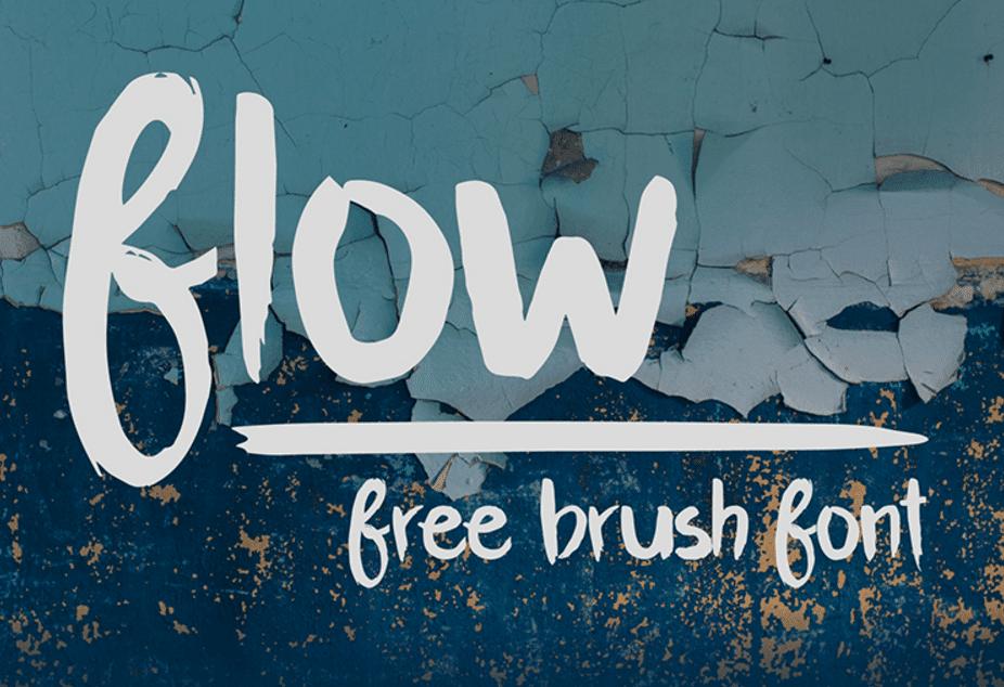 flow brush font
